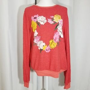 WILDFOX Lovebound Baggy Beach Jumper Red Large